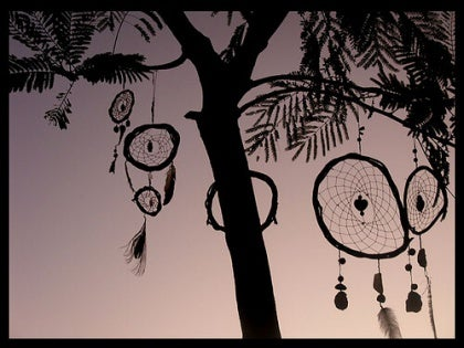 dreamcatchers hanging