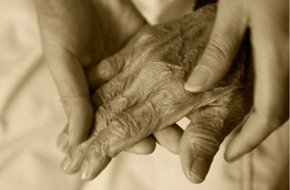 Holding Old Hand