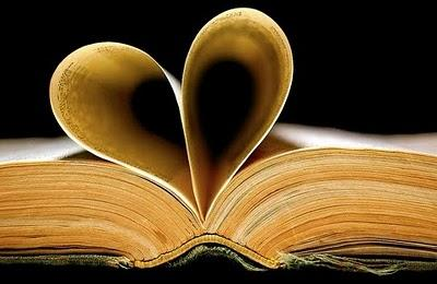 Pages of a book folded into a heart