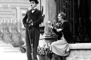 Chaplin and woman