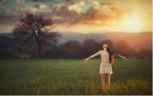 Girl Enjoying Freedom