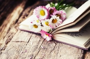 flowers in a book