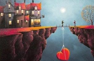 heart off a bridge