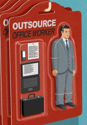 "Abstract image ""Outsource Office Worker"" package"