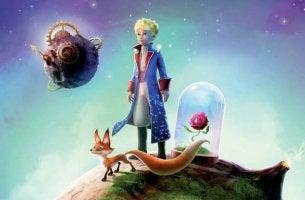 space boy with fox