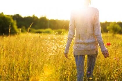 standing in a field