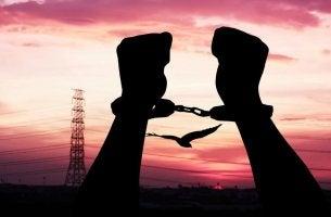 Handcuffed Silhouette