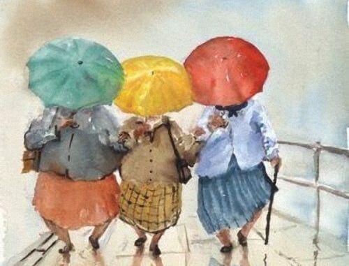Mummot sateessa