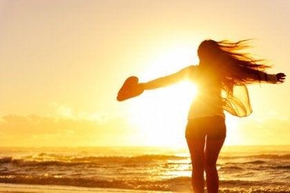 girl running beach