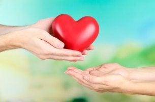 handing over a heart