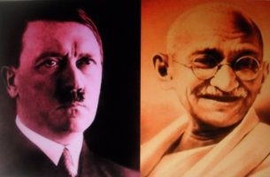 Hitler and Gandhi