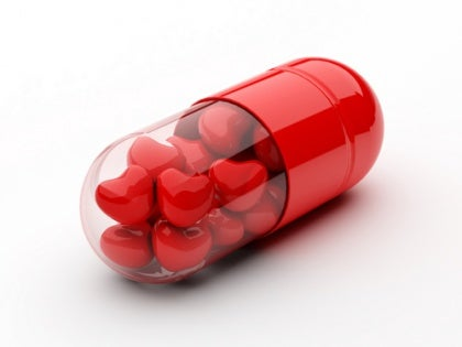 pill full of hearts