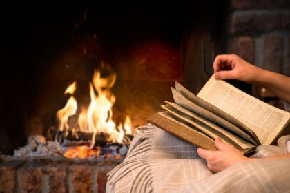 Reading by the Fire