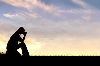 Silhouette of Someone Praying