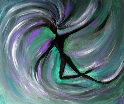 swirl art person
