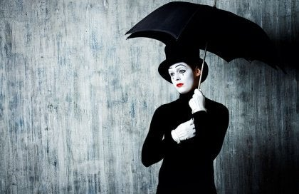 Mime in the Rain