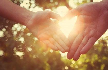 Käsieleet sydän