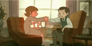 Psychologist and Woman Shaking Hands