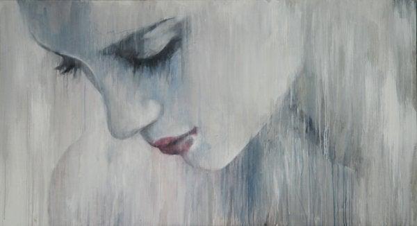 Woman Crying in Rain