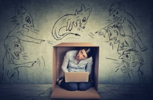 girl trapped in box