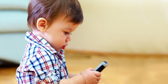 Baby on Cellphone