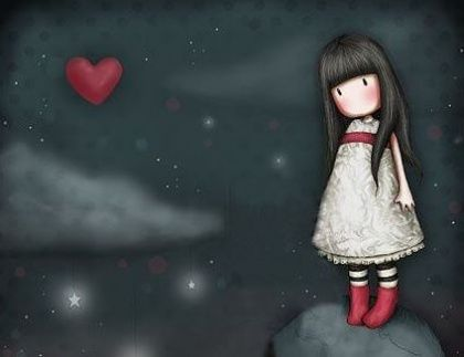 girl and heart