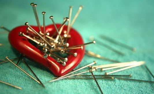 needles stuck in heart good things