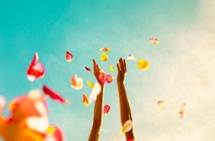 Arms Throwing Flower Petals