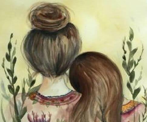 sisters head on shoulder