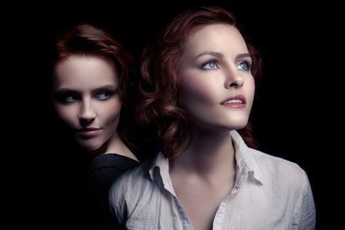 two faces of same woman jealous