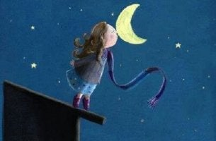 Girl Sniffing Moon