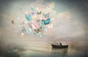 boat and butterflies