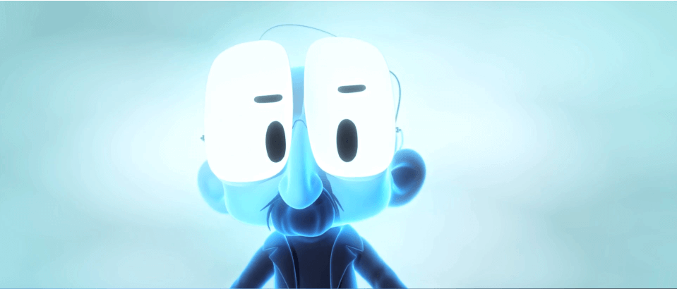 cartoon man blue