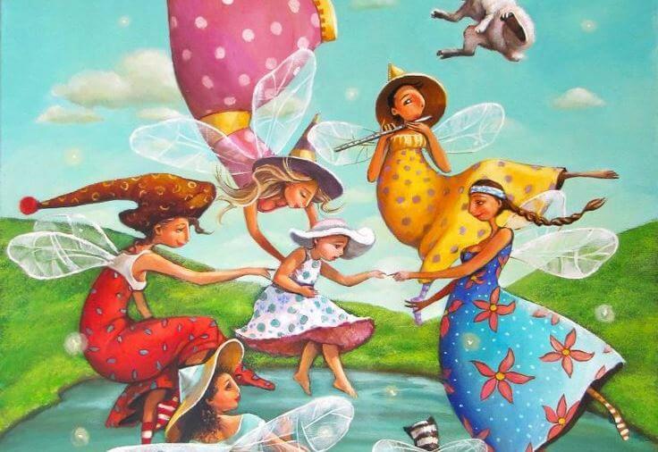 fairies and little girl