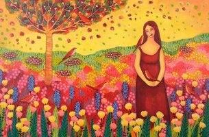girl in field with wildflowers brighten