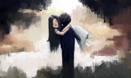 guy carrying girl