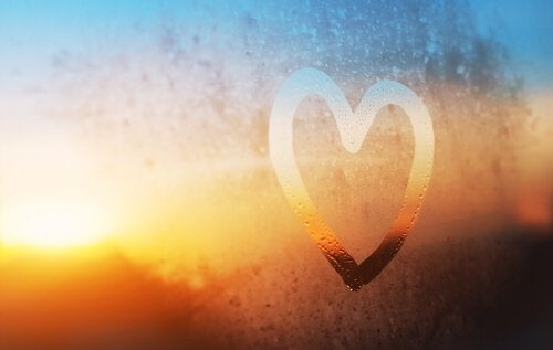 heart in condensation on window yourself