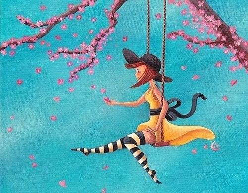 girl on swing patience