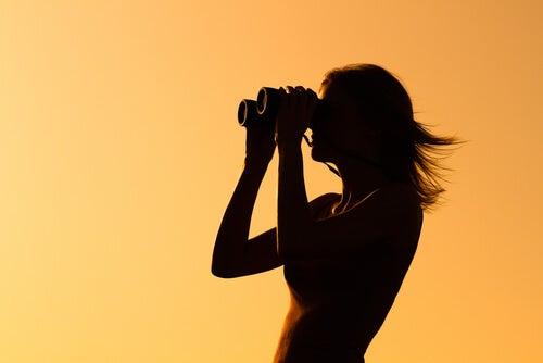 woman binocular