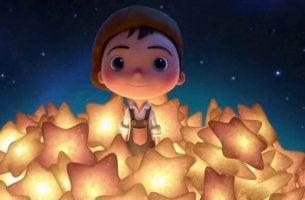 boy with many stars