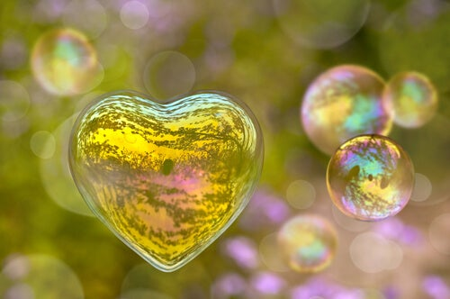heart shaped bubble romantic