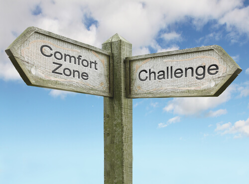Comfort Zone and Challenge Sign