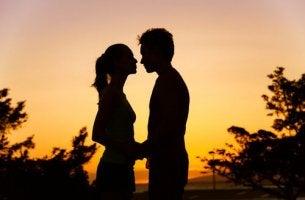 couple in sunset bond