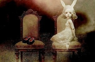 Rabbit Girl on Chair