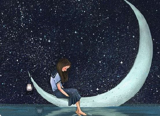 Girl on Moon