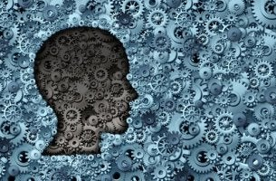 human head profile gears psychological