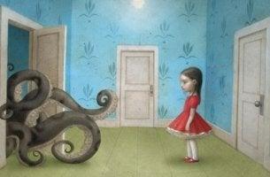 girl and sea monster