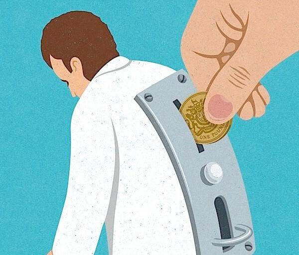 man machine with slot to insert money