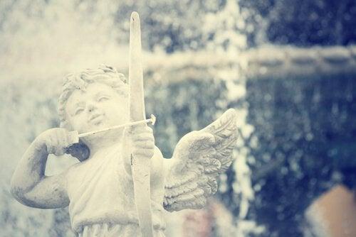 stone cupid statue