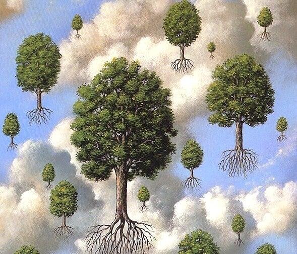 Lentoon lähteneet puut